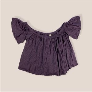 Truly Madly Deeply Purple Off The Shoulder Top M